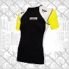 FIGHTERS - Rash Guard / Schwarz-Gelb-Weiss / Small